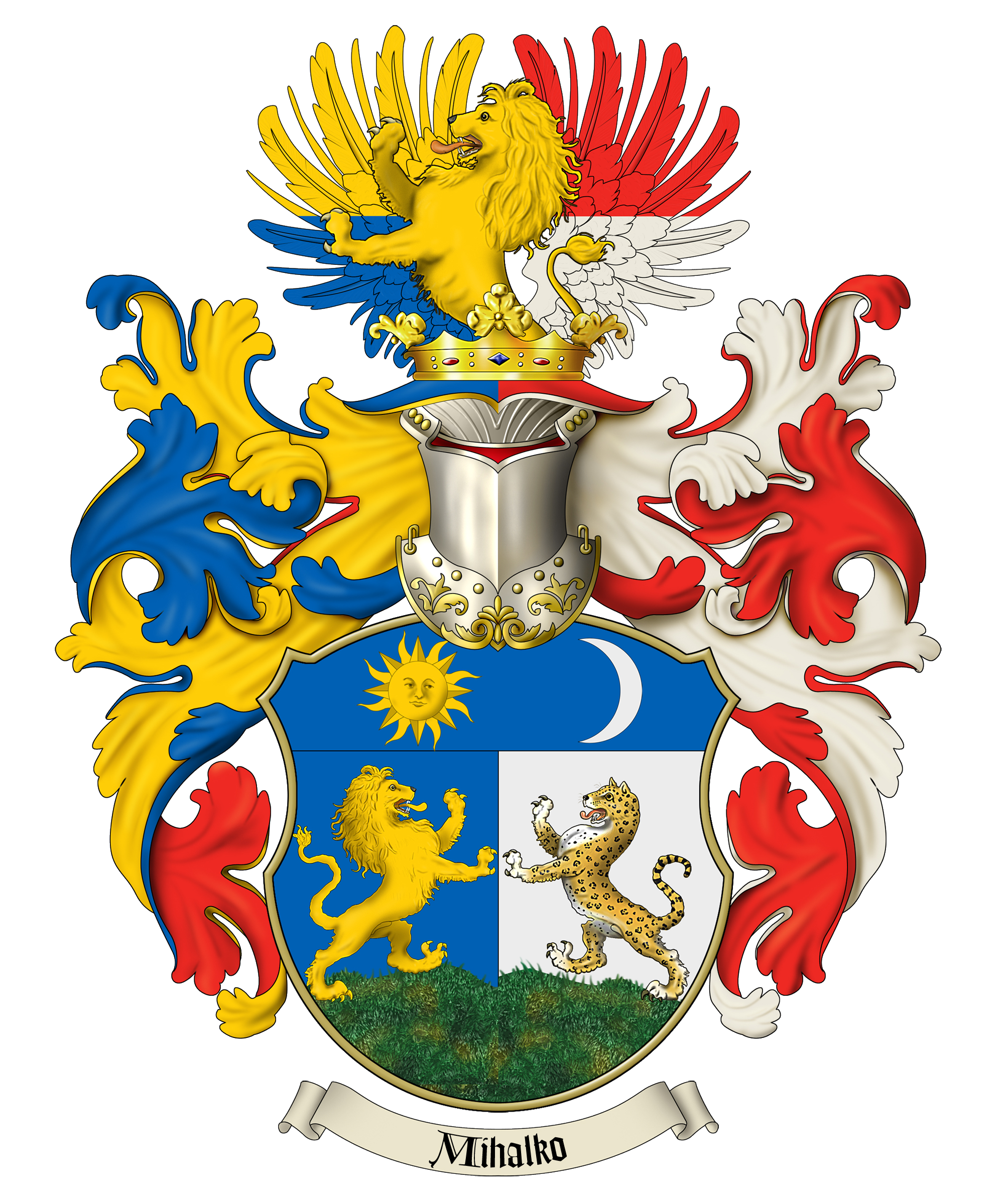 Family Crest And Coat Of Arms