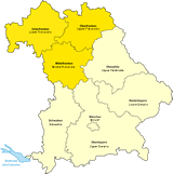 Map of Franconia in Bavaria