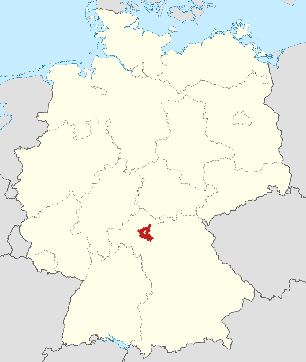 Schweinfurt Germany Map Schweinfurt County
