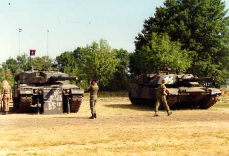 Dutch Leopard 2 and a M1 Abrams from 2-64 Armor