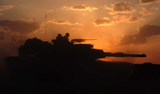 M1A1 in the sunset
