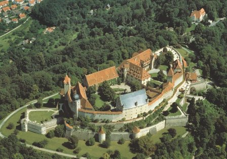 "Aerial view of the Coburg ""Veste"" Fortress"