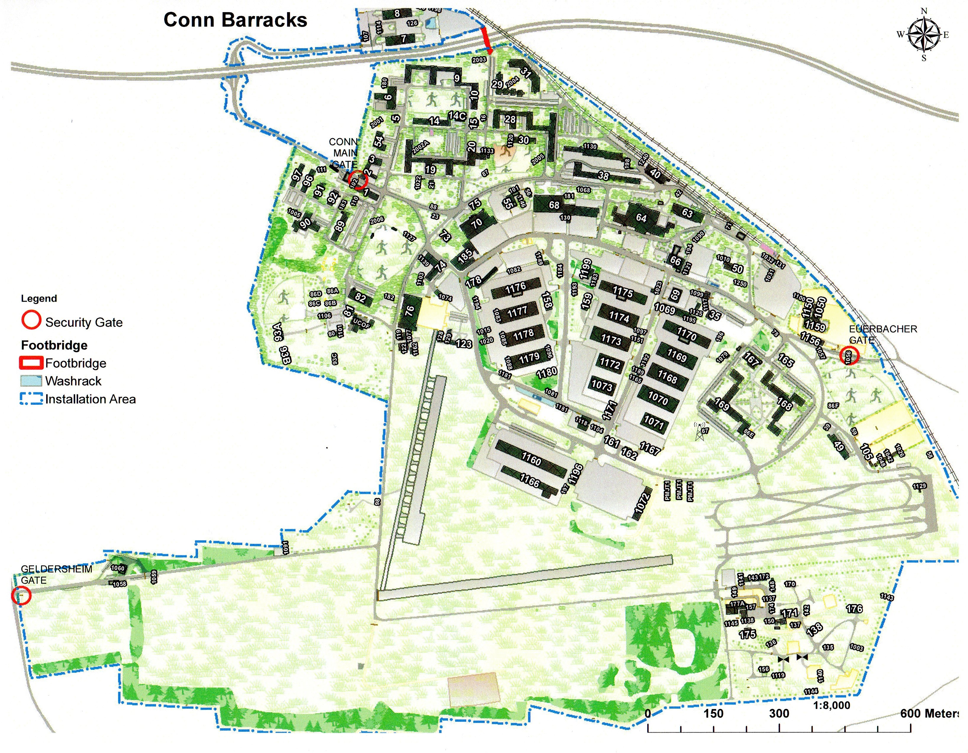 Conn Barracks Mapjpg - Map of conn