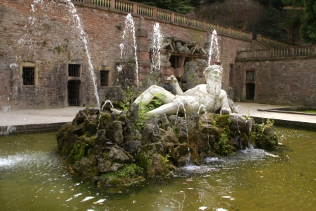 Fountain at the Heidelberg Castle