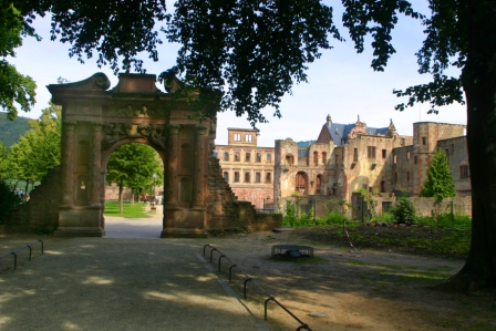 Entrance archway at the Heidelberg Castle
