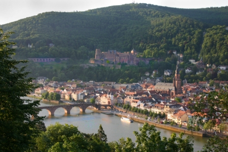 A view of Heidelberg from the castle