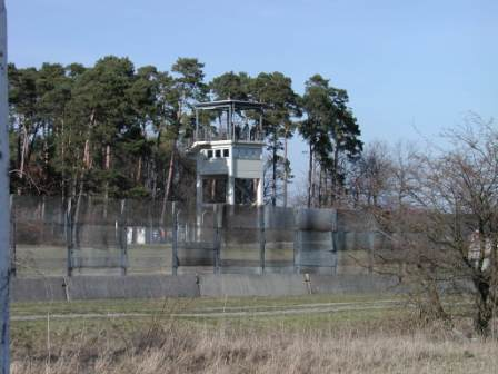 A view of the U.S. guard tower from the East German side