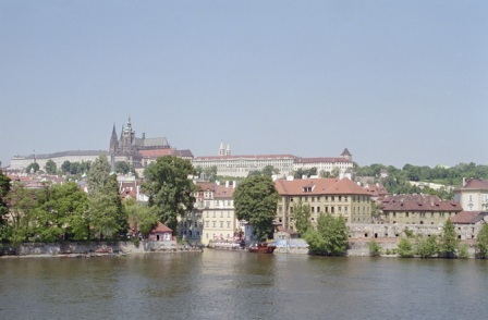 A view from the Charles Bridge