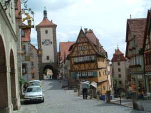 Plönlein, an often painted view of this street in Rothenburg